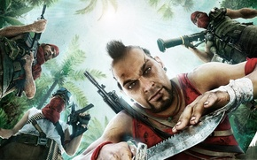Picture weapons, The game, art, men, Far Cry 3