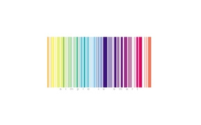 Picture color, easy, the inscription, barcode, simple is smart