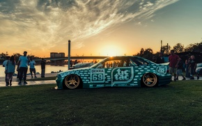 Picture BMW, E36, Stance, Low, Rotiform, BellyScraper, Tic Tac