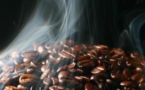 Wallpaper coffee, grain, couples, roasting, aroma