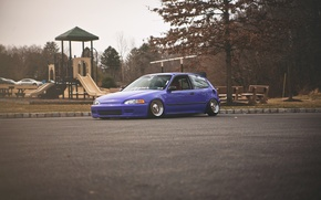 Picture Purple, Honda Civic, civici, stance. Honda