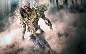 Picture death, warrior, zombies, the corpse, Lord, lord of zombies, shoulders