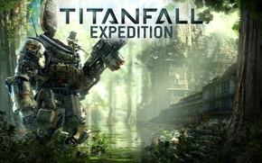 Picture jungle, pilot, fighter, pilot, Titan, Titanfall Expedition