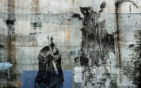 Wallpaper figure, Alex Cherry, death, the Pope