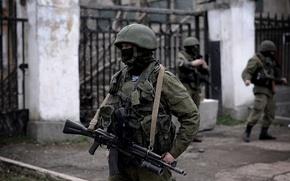 Picture mask, machine, soldiers, helmet, Russia, Crimea, military, Sevastopol, polite people, airborne