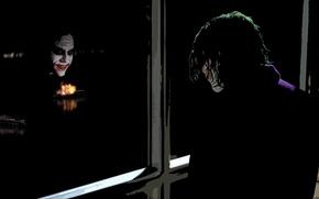 Picture reflection, Joker, The Dark Knight, Heath Ledger, Heath Ledger, The Dark Knight, The Joker, ferries