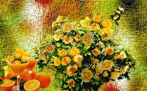 Picture roses, bouquet, Still life