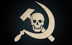 Picture skull, hammer, hammer