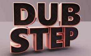 Picture logo, render, Dubstep, dub, step