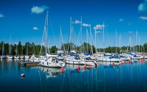 Picture yachts, Bay, Finland