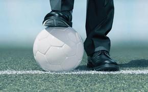 Wallpaper soccer, ball, suit