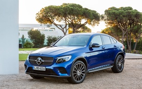 Wallpaper blue, Mercedes-Benz, Mercedes, AMG, Coupe, GLC-Class, C253