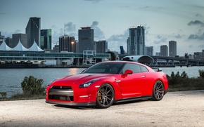 Picture GTR, Nissan, wheels, Red, Vossen, Precision Series