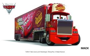 Picture pixar, cars, mack, cars 2, cars 2