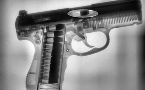 Wallpaper gun, x-ray, pistol, X-Ray