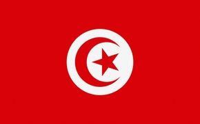 Wallpaper Tunisia, Tunisia, Flag, Photoshop
