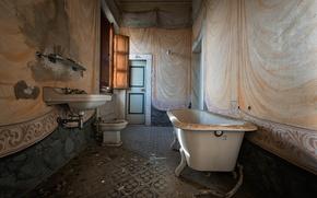 Picture the door, window, bath