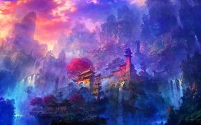 Picture Mountain, Castle, Asia