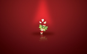 Wallpaper christmas-candy, on a red background, candy