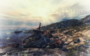 Picture lighthouse, ship, island, destruction, stranded, terout, dear Esther, dear esther