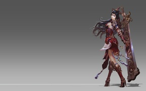 Picture girl, fantasy, the game, sword, warrior, art