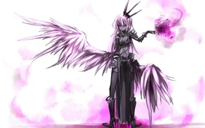 Picture girl, magic, wings, anime, the demon, art, shirogane usagi