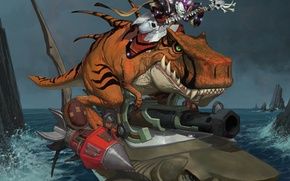 Picture water, shark, undead, wow, undead, world of warcraft, the forsaken, dinosaur, davoser, Epicus