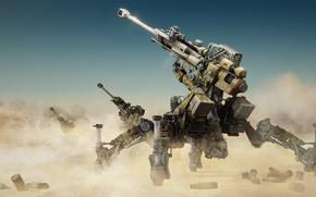 Picture sand, weapons, gun, artillery, sandstorm
