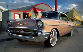 Picture chevrolet, street, 1957, bel air