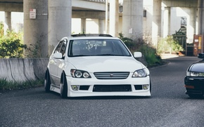 Picture turbo, lexus, white, japan, toyota, jdm, tuning, front, face, low, height, is200, stance, is300, dropped, …