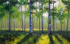 Wallpaper ART, FIGURE, ARTSAUS, ASPEN TREES