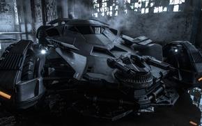 Picture auto, machine gun, batmobile, Borno, batman v superman dawn of justice
