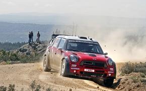 Picture Red, Sport, People, Red, Mini Cooper, WRC, Rally, MINI, Mini Cooper