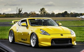 Picture nissan, japan, jdm, tuning, 370, low, 350