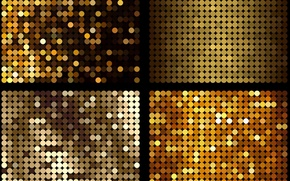 Picture circles, texture, yellow-gold