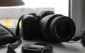 Picture macro, mirror, the camera, Nikon, optics, D3100