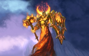Picture art, art, paladin, paladin, hearthstone, hearthstone, Whispers of the Old Gods, Ragnaros Lightlord, legendary card, …