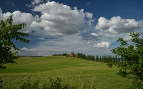 Picture Clouds, Italy, Field, Clouds, Italy, Tuscany, Italia, Toscana, Tuscany, Fields