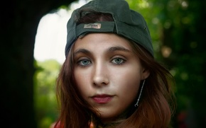 Picture girl, portrait, baseball cap, Tomboy