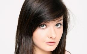 Picture eyes, look, girl, face, model, Edwige Has, Anna Tatu