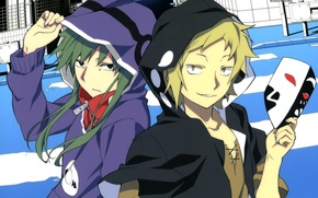 Picture smile, street, home, mask, hood, the transition, two, two guys, hiroyuki ohkaji, shuuya kano, tsubomi …