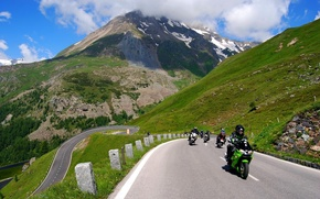 Picture Road, Mountains, Bikers