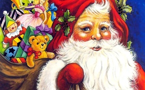 Picture new year, Christmas, gifts, Santa Claus