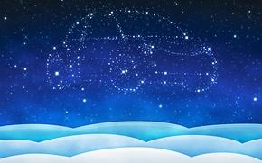 Picture machine, stars, new year