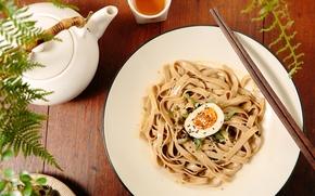 Wallpaper tea, egg, sticks, kettle, sesame, noodles, pasta