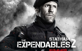 Wallpaper The Expendables 2, Jason Statham, The expendables 2, Lee Christmas, Jason Statham