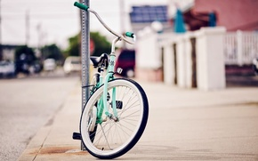 Wallpaper bike, widescreen, wheel, sport, bicycle, blur, HD wallpapers, Wallpaper, the city, different, mood, full screen, ...