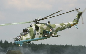 Picture Flight, Aviation, Military, Soviet, Mi-24, Helicopter, Transport-Combat