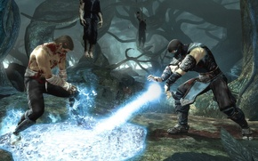 Wallpaper below zero, frost, sub zero, johnny cage, fighting game, battle, mortal kombat, johnny cage