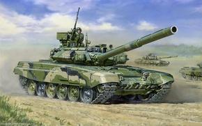 Picture figure, Tank, Russian, t-90, main battle tank, tankers